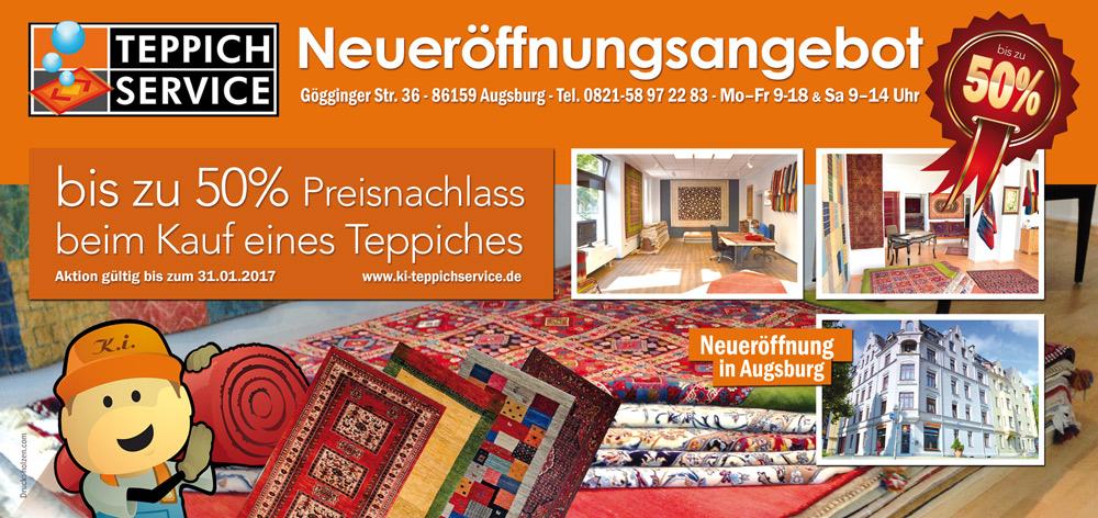 Teppichverkauf-Aktion