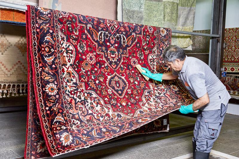 Reinigung, Teppichwäsche echter Perser