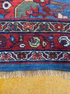 Teppichreparatur Vorher/Nachher