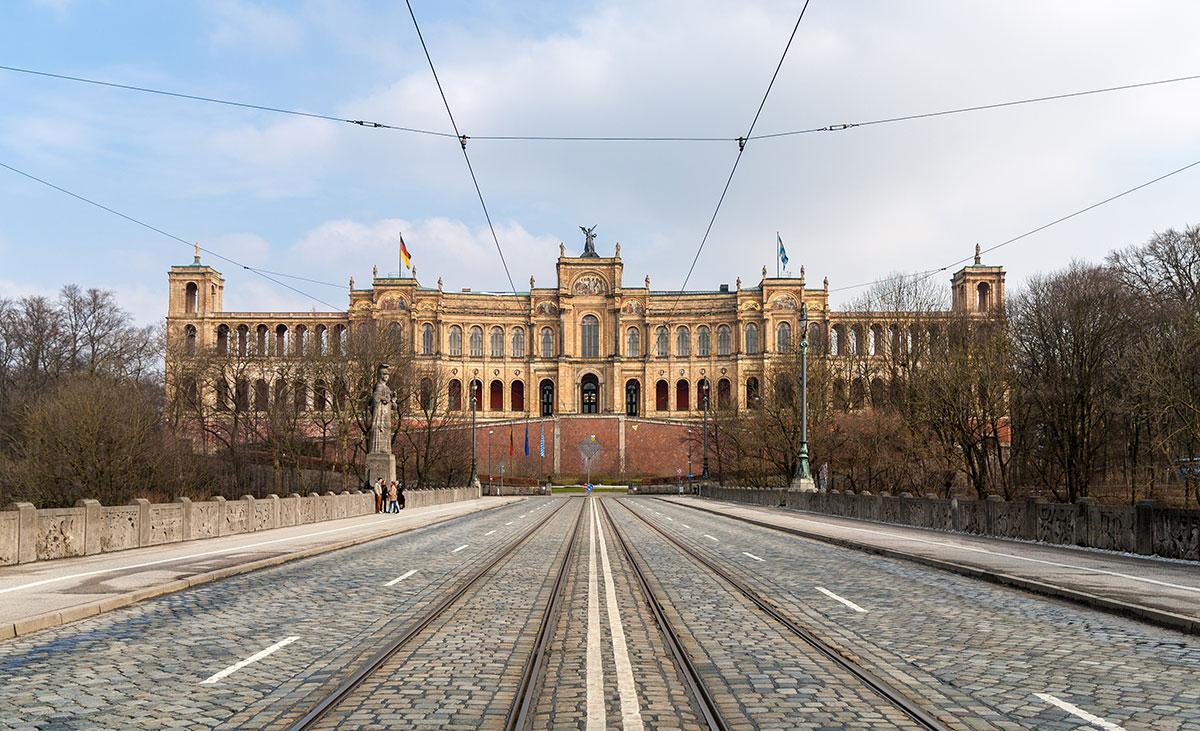 Trudering in der Nähe des bayrischen Landtags